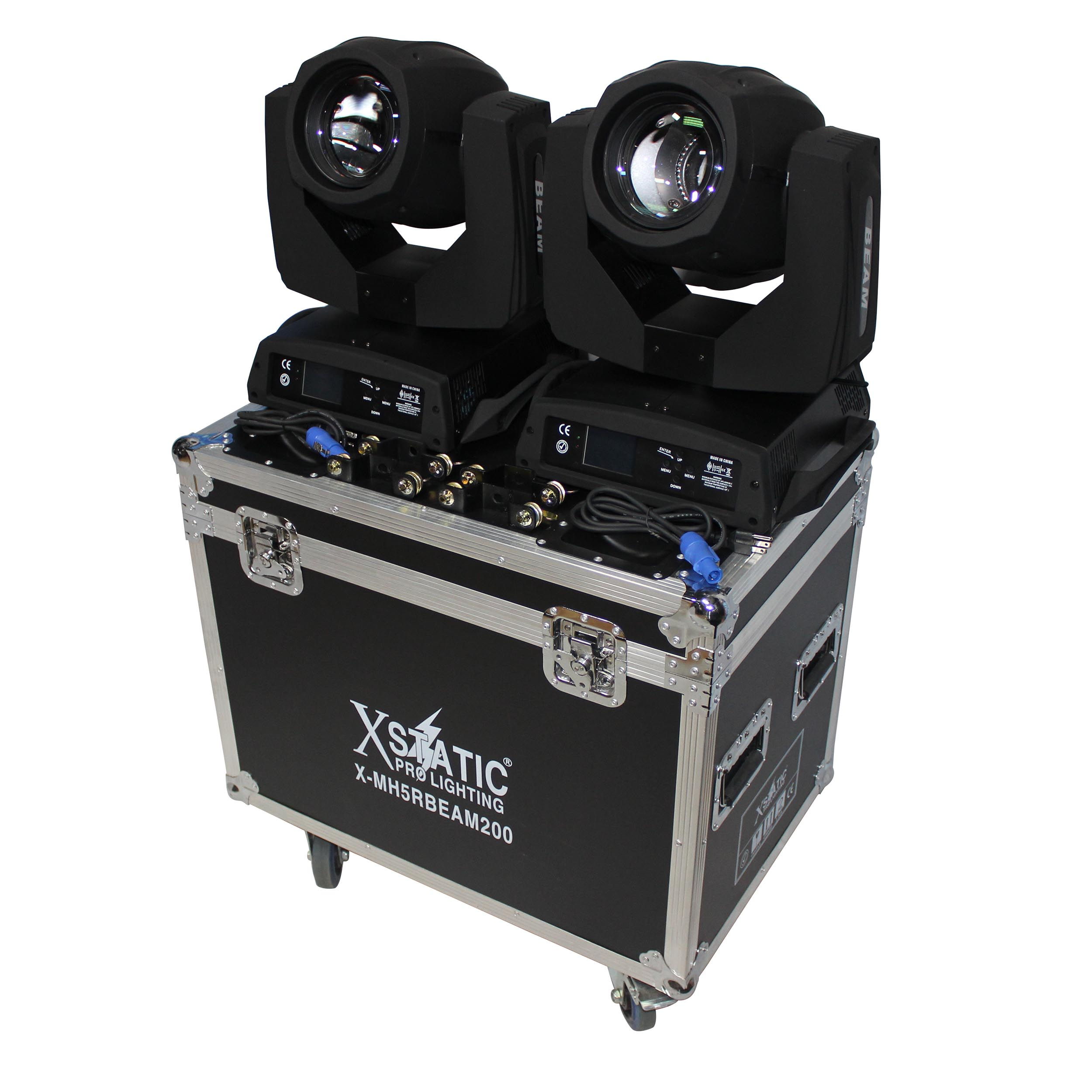 5R Moving Head Beam Pack of 2 with Flight Case