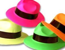 Neon Gangster Hats Dozen