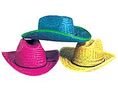 Neon Cowboy Hats Dozen