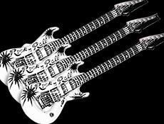 Inflatable Guitars Black & White