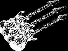 Inflatable Guitars Black & White