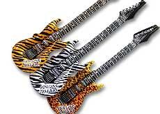 Inflatable Animal Print Guitars
