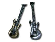 Inflatable Guitars Gold and Silver