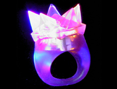 Flashing Led Star Ring Dozen