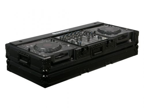 "Black Label Large CD Player Case with 12"" Mixer"