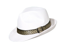 White Fedora with Band