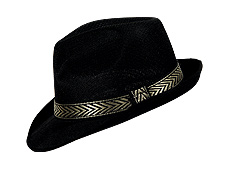 Black Fedora with Gold Band