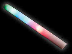 Multi LED Foam Light Disco Sticks (12)