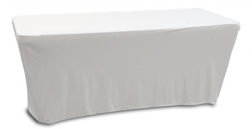 WHITE 6' BANQUET TABLE SLIP SCREEN
