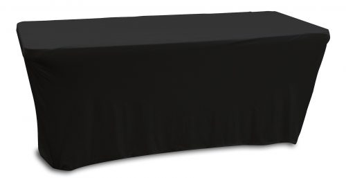 BLACK 6' BANQUET TABLE SLIP SCREEN