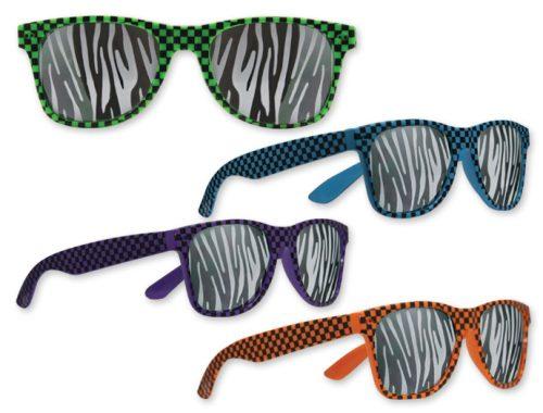 Check and Zebra Glasses