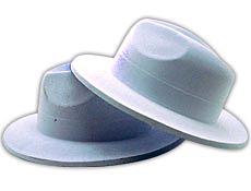 White Velour Gangster Hats