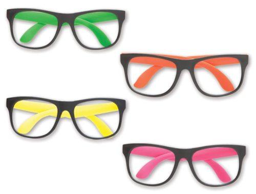 Neon Nerd Glasses No Lenses