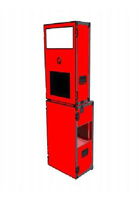 Red Slim Line Booth no LED