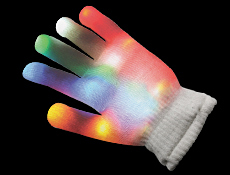Light up Rainbow Glove Right Hand