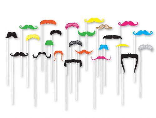Mustache Props on a Stick