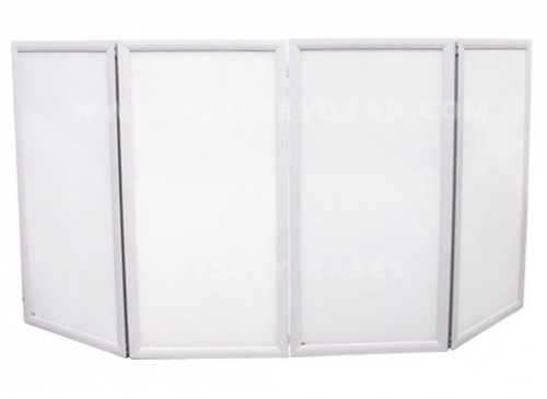 "48""W x 46"" H All White DJ Facade"