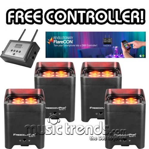 Four Pack Freedom Par Quad 4 Free FlareCon Air