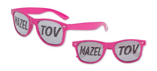 Mazel Tov Pinhole Glasses Pink