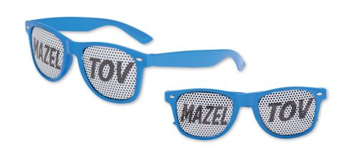 Mazel Tov Pinhole Glasses Blue