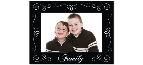"Family 4"" x 6"" Cardboard Frame"