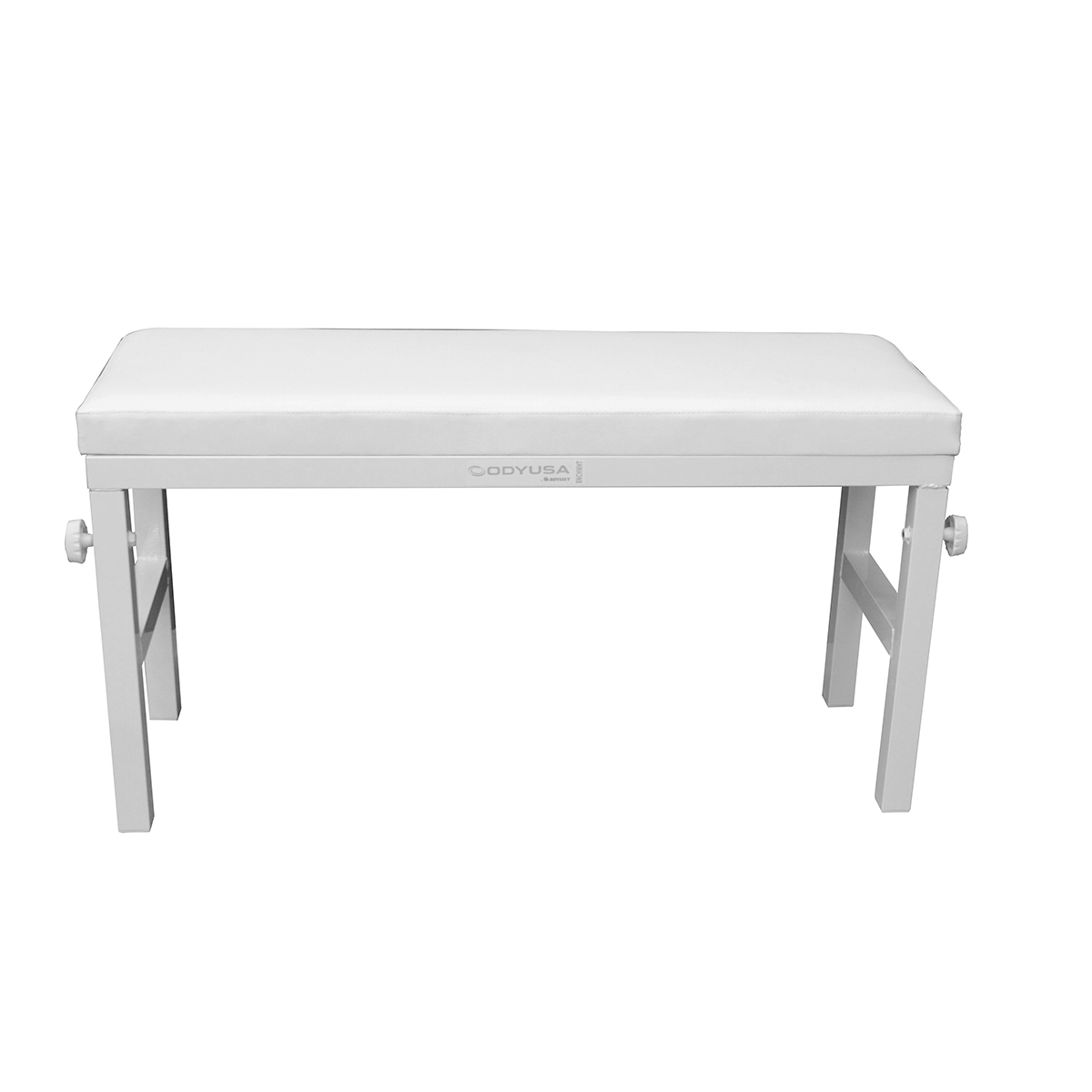 Luxe Series 40 Inch Wide Portable White Bench Dj Equipment