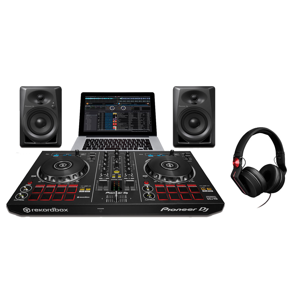 pioneer dj starter pack music trends pro audio lighting and production equipment. Black Bedroom Furniture Sets. Home Design Ideas