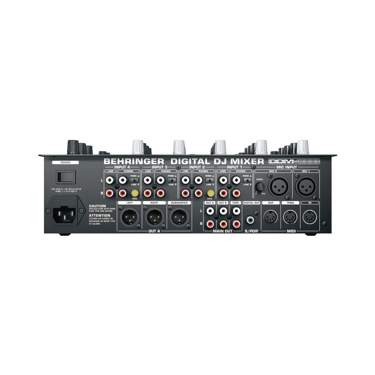 Ddm4000 4 Channel Digital Dj Mixer Equipment Music Trends Fuse Box Processor Behringer