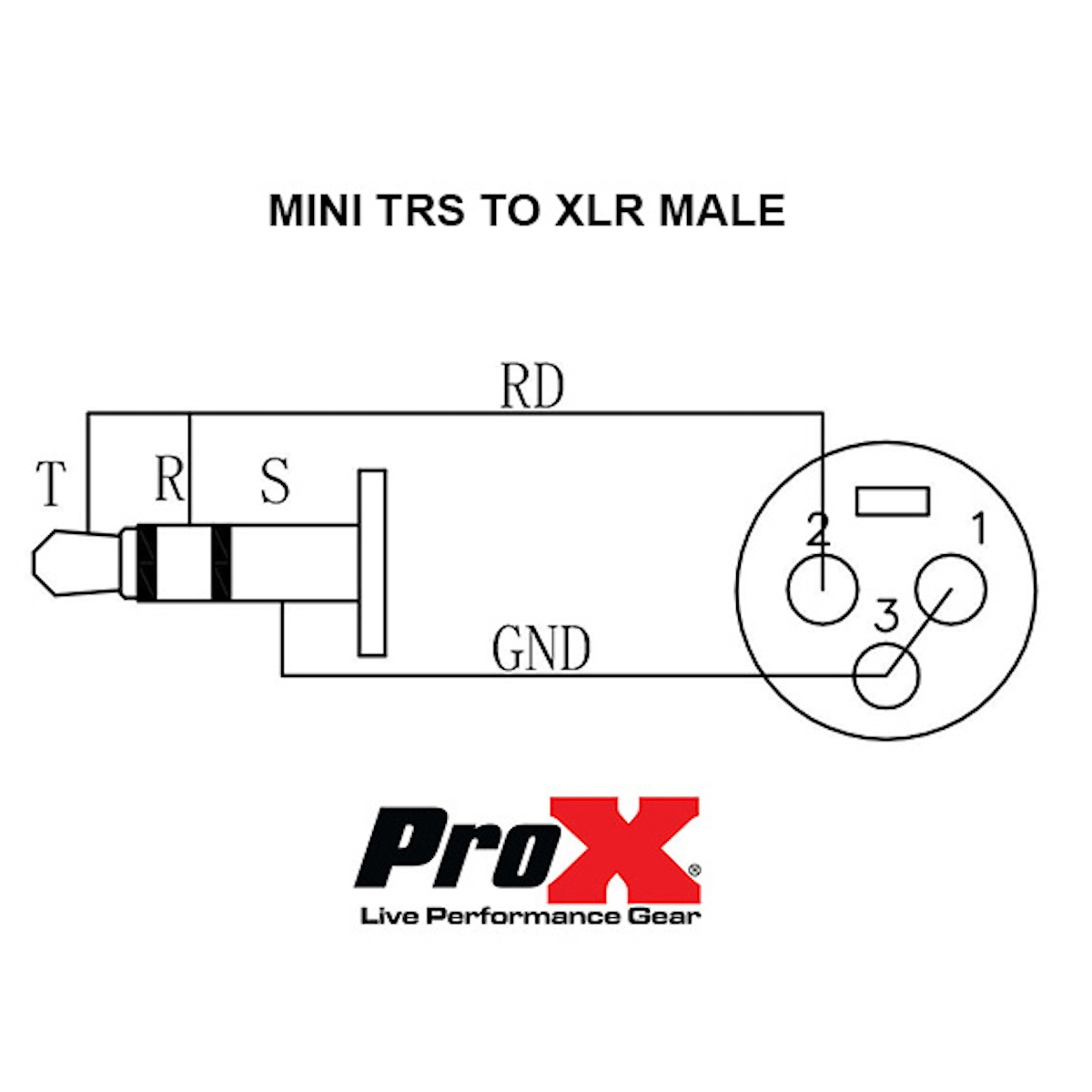 5 Ft Audio Cable 1 8 3 5mm Trs Mini To Xlr M Unbalanced Music Trends Pro Audio Lighting And Production Equipment